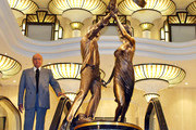 ©BAUER-GRIFFIN.Harrods owner, Mohammad Al-Fayed unveils his tribute to his son, Dodi and Princess Diana. The bronze statue is an idealized portrait of the couple in which they release an albatross together, a symbol of eternity.  The statue will be on display in Harrods and is rumored to become a traveling exhibit in the future.  So, far the British public is split on the artisitc merit of the tribute to The People's Princess and her companion..Job: 29677    London, England.NON-EXCLUSIVE.  September 1, 2005.www.bauer-griffin.com.
