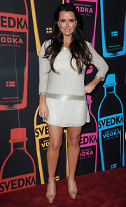 Kyle Richards was glimmering at the Night of a Billion Reality Stars in this silver tunic dress.