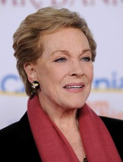 Julie Andrews attended the premiere of 'Saving Mr. Banks' wearing a textured short hairstyle.