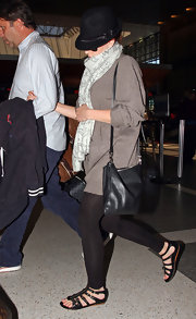 "Scarlett's cute ""Brit Zip Front Gladiator Sandals"" are a stylish and comfy look that are great when you're on the go."