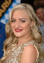 Amanda Michalka showed off her long curls while hitting the red carpet.