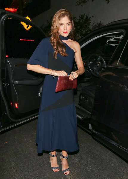 Selma Blair Leather Clutch