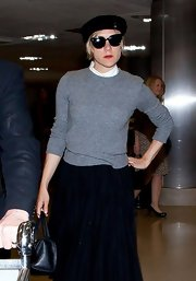 Chloe Sevigny posed for pics in this gray classic sweater.