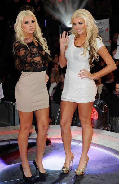 Kristina Shannon wore a tight white dress with gold glittering heels for joining 'Celebrity Big Brother.'