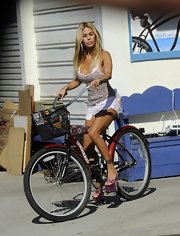 How far could Shauna Sand have gone on her bike wearing those sky-high platform sandals?