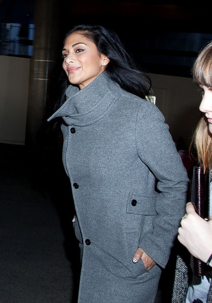 More Pics of Nicole Scherzinger Wool Coat (1 of 16) - Nicole Scherzinger Lookbook - StyleBistro