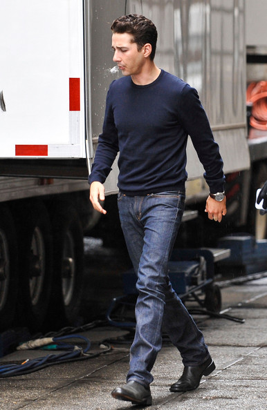 Shia LaBeouf Leather Slip On Shoes