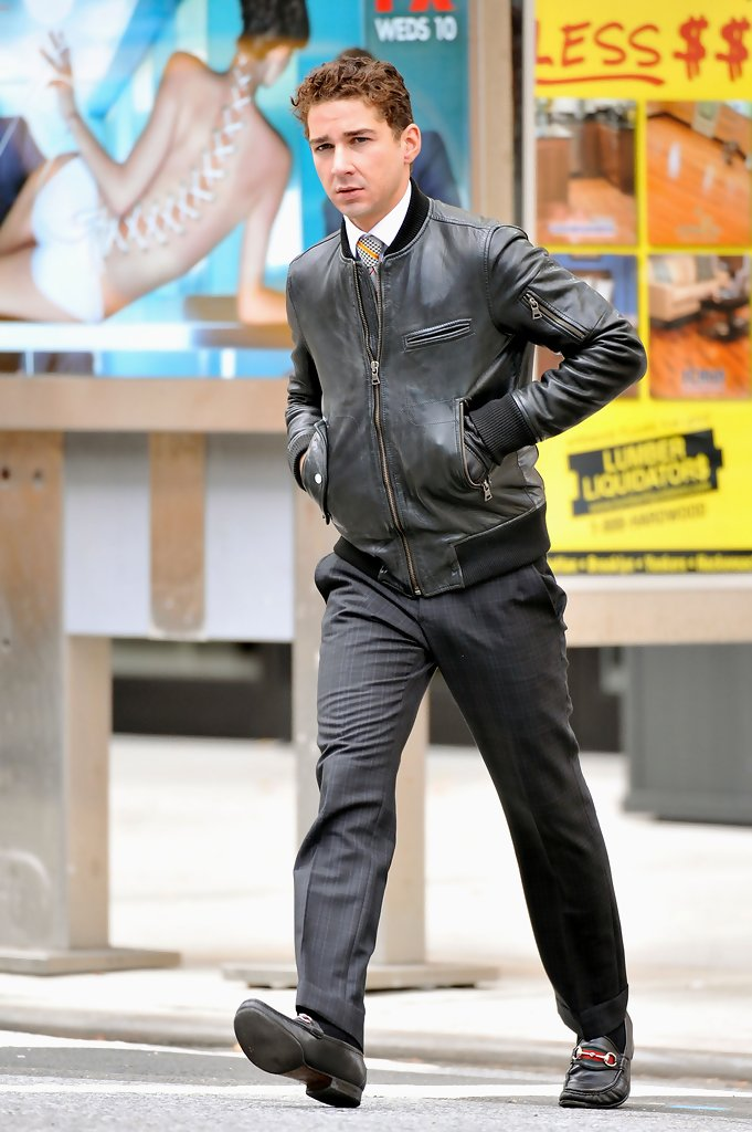 Shia labeouf leather jacket