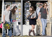 Charlotee Casiraghi wears brown cowgirl boots to shop in St. Remy.
