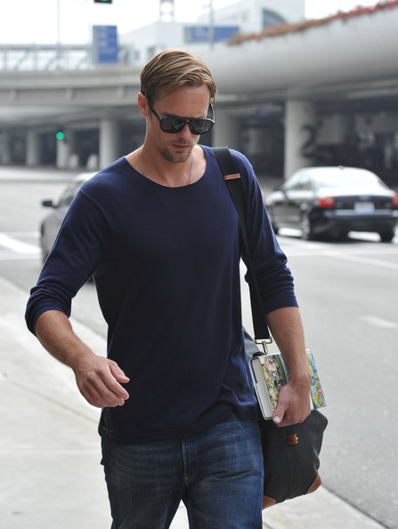 More Pics of Alexander Skarsgard Lace Up Boots (1 of 5) - Alexander Skarsgard Lookbook - StyleBistro
