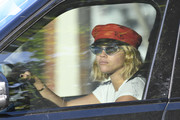 Sofia Richie topped off her look with a red captain's cap.