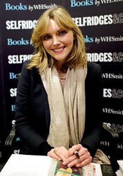 Sophie Dahl wore her hair in a tousled layered bob with long sexy bangs while signing copies of her new cookbook 'From Season to Season: A Year in Recipes.'