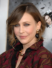 Vera Farmiga styled her chestnut brown hair into a loose bun for the premiere of 'Source Code.' Softly parted bangs were the perfect finishing touch.