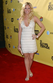 Brittany Snow carried a champagne satin clutch to the Guys' Choice Awards.
