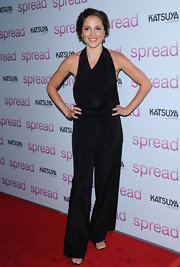 Margarita wore a sleek halter jumpsuit while hitting the premiere of 'Spread'.