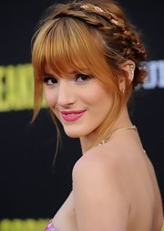 Bella Thorne's pink lips topped off the actress' super flirty and feminine look at 'Spring Breakers.'