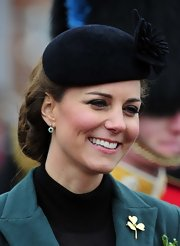 The Duchess of Cambridge showed off her sophisticated English style with this floral hat.