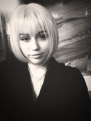 Miley Cyrus was classic and cute with her bob and wispy bangs in this social media pic.