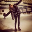 Heidi Klum Goes Ice Skating
