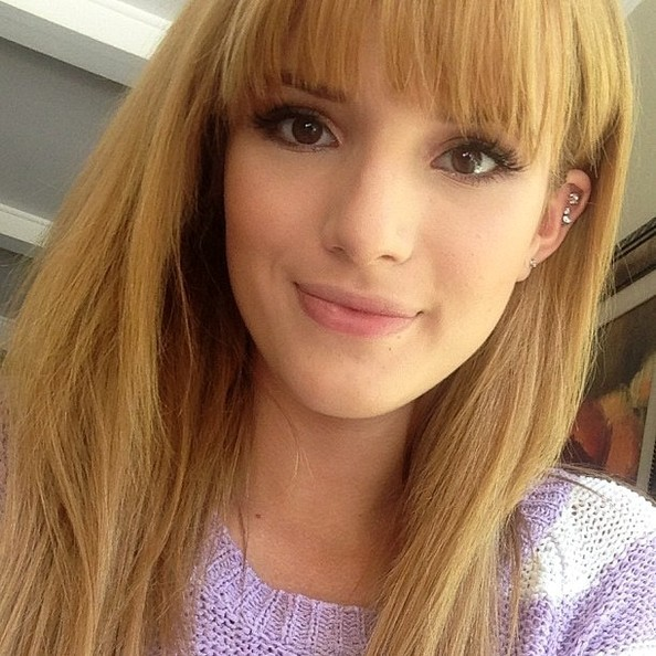 Bella Thorne Shows Off Her Blunt Bangs