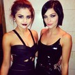 Selena Gomez and Leigh Lezark Get Sexy in Black