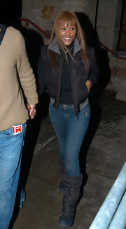 Eve looked snug at the 2006 Sundance Film Festival in her snow boots.