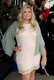 Gemma Collins attended the 2012 TRIC Awards in a simple yet pretty lace dress.