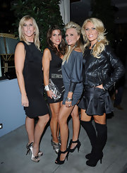 Vicki Gunlavson's satin platform pumps were the centerpiece of her look with the amazing black lace detailing on them.