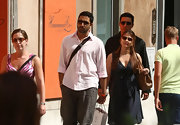 Abhishek Bachchan strolled around Rome looking relaxed in a pink button-down and baggy pants.
