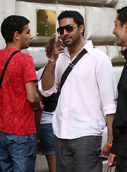 Abhishek showed off a classic pair of aviator shades while strolling the streets of Rome.