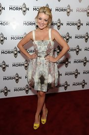 Sheridan Smith chose this watercolor print dress with a full bubble skirt for her red carpet look.