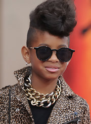 Willow stuck to a pair of round sunnies at the premiere of 'The Karate Kid.'