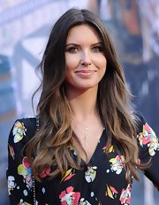 Audrina Patridge wore her hair in a center part with lovely boho waves at the premiere of 'The Lone Ranger.'