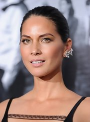 Olivia Munn kept her look soft and romantic all around with a sleek chignon.