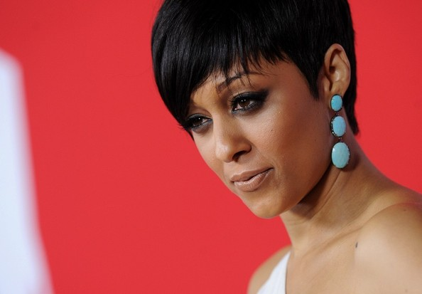 Tia Mowry Dangling Gemstone Earrings