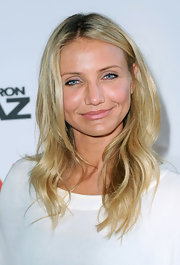 Cameron Diaz showed off her long curls while hitting the premiere of 'Knight and Day' in France.