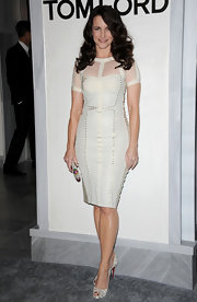 Kristin was white hot at the Tom Ford Beverly Hills store launch in a sheer studded cocktail dress.