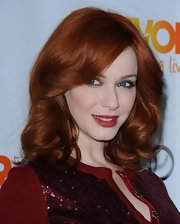 Christina Hendricks wore a rich cranberry lipstick at the Trevor Project's Annual Benefit.