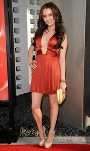Camilla got risque at the 'True Blood' season premiere in this deep-plunging dress.