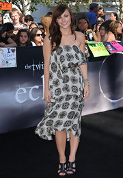 Briana Evigan wore the Echo dress in a basket print to the premiere of the 'Twilight saga: Eclipse', during the 2010 Los Angeles Film Festival.