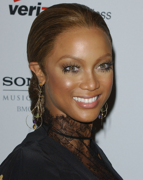 Tyra Banks Dangling Gemstone Earrings