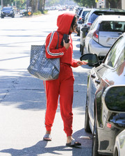 Vanessa Hudgens was spotted out in Los Angeles toting a Goyard St. Louis bag.