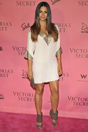 Camila Alves wore her ombre hair center-parted and sleek with slightly tapered layers at the Victoria's Secret What is Sexy? event.