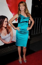 Jane donned a shimmering jade cocktail dress for her chic style at the 'Waiting for Forever' premiere.