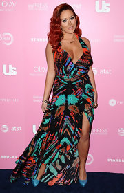 Aubrey O'Day loves to make a statement on the red carpet in bold looks like this.