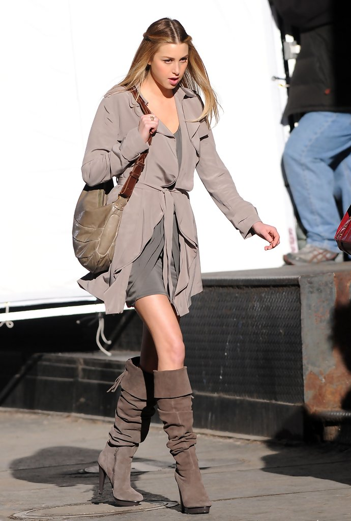 Whitney Port Knee High Boots - Whitney Port Shoes Looks ...