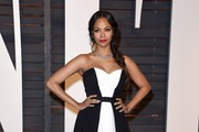 Zoe Saldana Strapless Dress