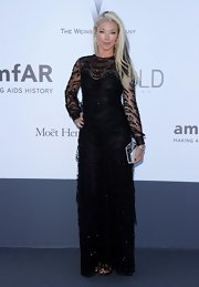Tamara Beckwith chose this black beaded gown for her look at the amFAR Cinema Against AIDS Gala.