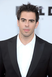 Eli Roth must have used up a whole jar of gel to achieve that spiked 'do.