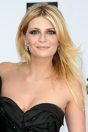 Mischa Barton styled her hair in center part straight locks for the amfAR Gala benefit.